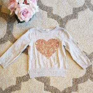 H&M Sequins Heart Sweater
